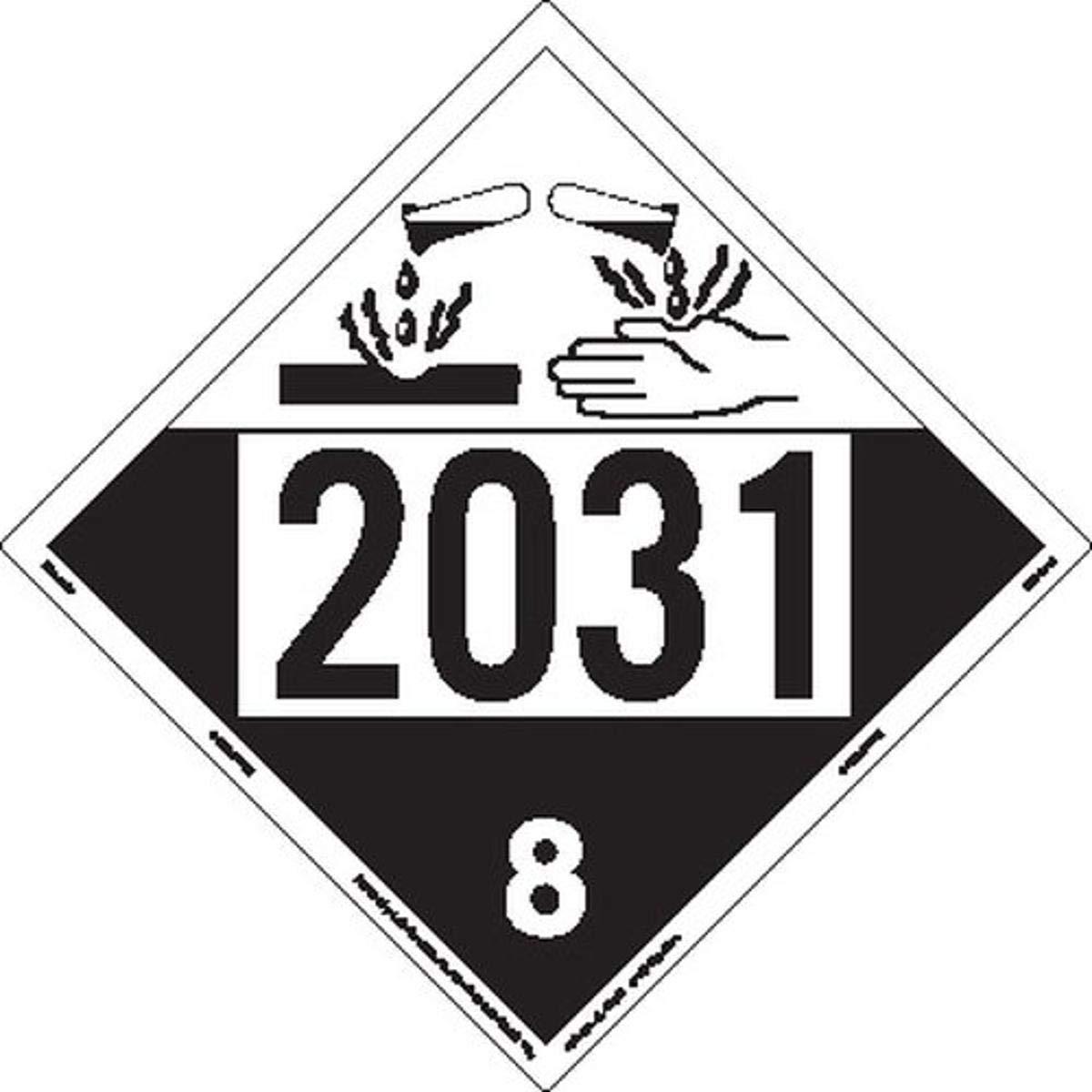 Labelmaster Max 44% OFF New products, world's highest quality popular! ZT4-2031 UN 2031 Hazmat Tagboard Corrosive Placard