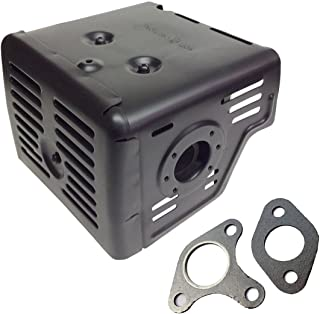 Woniu New Muffler for Honda GX340 GX390 11HP 13HP Engine Motor with Two Gaskets