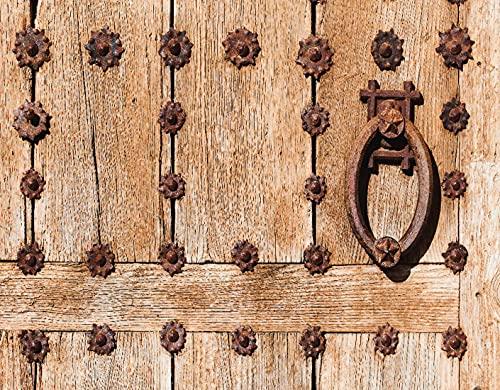 Kit de Pintura de Diamante 5D,Entrada española de manipuladores de estilo medieval oxidado Archway Fachada Ima,Bordado Pinturas Fotos Bricolaje Artesanía para la Decor de la Pared del Hogar,16' x 12'