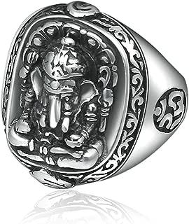 Aooaz Thumb Ring Ganesha Midi Rings Silver