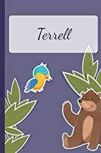 Terrell: Personalized Notebooks • Sketchbook for Kids with Name Tag • Drawing for Beginners with 110 Dot Grid Pages • 6x9 / A5 size Name Notebook • ... Personal Gift • Planner and Journal for kids