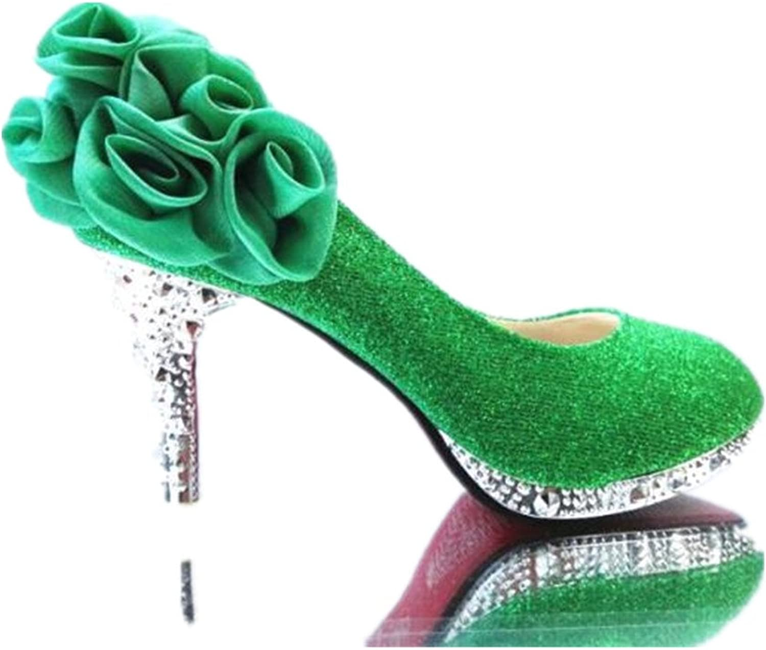 Excellent.c Round Toe high Heels Fashion Women's shoes Flower Stilettos