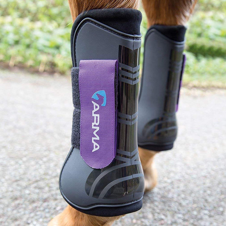 Shires ARMA Tendon Boot Full Size Black Purple