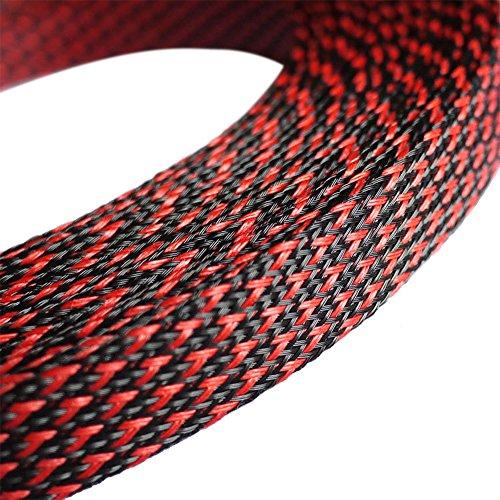 Preisvergleich Produktbild Godagoda Universeller Nylon Geflechtschlauch Auto Audio Gewebeschlauch Geflochten Kabelschutz 3mm / 6mm / 10mm / 12mm x 8m / 30m