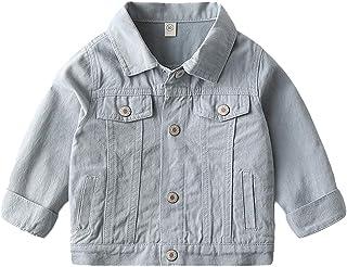 Chaqueta Vaquera Niños Bebés Ropa Abrigo Sudadera Niñas Demin Jacket Manga Larga Traje Primavera Otoño Azul 4-5 Años