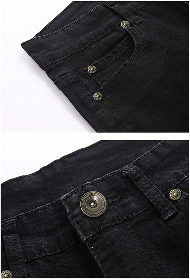 Hommes Stretch Solid Black Skinny Slim Pants Denim Male Pantalons Cowboys Jeans 8068