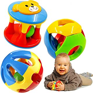 3 Pcs Baby Rattle Ball Toys Colourful Shaking Bell Developmental Rolling Balls Newborn Handbells Infant Gift Rattles for I...