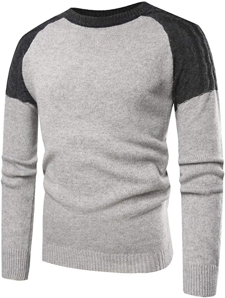 MODOQO Men's Pullover Sweater Crewneck Long Sleeve Knitted Tunic Outwear