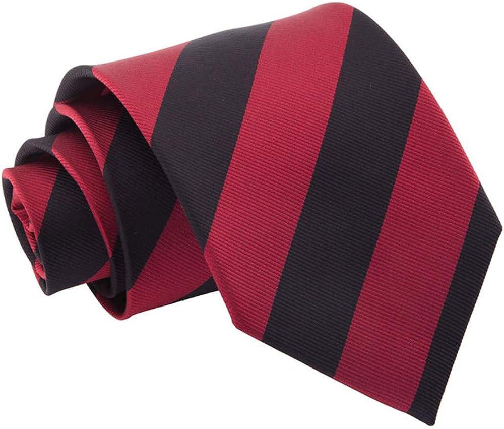 Woven Striped Burgundy Black Men's Fashion Business Classic 3.75