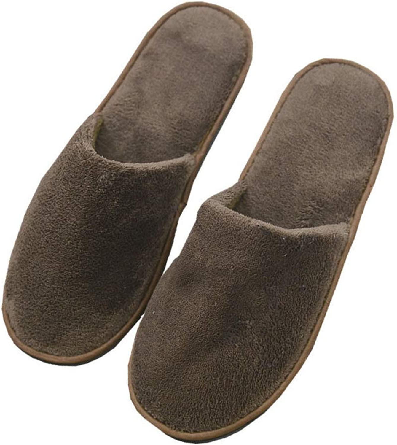 Hotel Spa Slippers, Closed Toe Disposable Indoor Slippers for Men and Women, Fluffy Coral Fleece for Extra Comfort, 39-44,50pairs