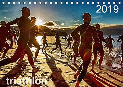 TRIATHLON 2019 (Tischkalender 2019 DIN A5 quer): Triathlon Kalender 2016 (Monatskalender, 14 Seiten ) (CALVENDO Sport)