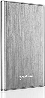 Sharkoon Rapid-Case 2.5'' USB 3.1 Type C - Carcasa Externa de Disco Duro, Plata