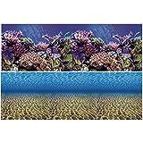 Vepotek Aquarium Background Ocean Seabed /Coral Reef Double sides (72X24H)