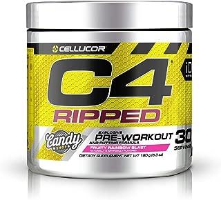 Cellucor [International Version] C4 Ripped Pre-Workout Fruity Rainbow Blast セルコア C4 リップド プレワクアウト フルーティーレインボーブラスト 30回分 [海外直送品]