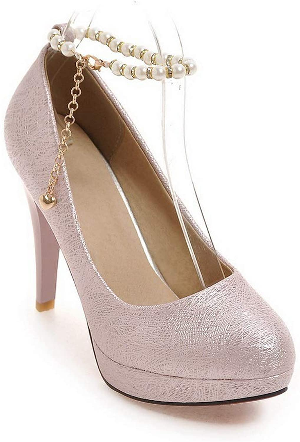 1TO9 Womens Platform Structured Beaded Urethane Pumps shoes MMS06284