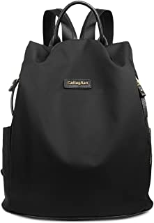 00c421e064c CALLAGHAN Canvas Backpack Purse Travel Water Resistant Small Lightweight  School Backpacks for Women