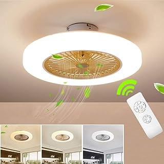 BEHWU Ventilador de techo Lámpara de techo, moderna LED