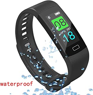 AOLEE Fitness Tracker HR Smart Sports Bracelet Wristband Activity Tracker Bluetooth Exercise Watch Heart Rate Blood Pressure Waterproof