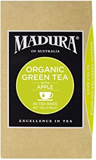 Madura Organic Green and Apple 50 Tea Bags, 1 x 75 g