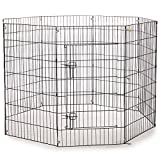 """ProSelect ZW121 48 Everlasting Exercise Pens for Dogs and Pets-Black 18"""", 24"""", 30"""", 36"""", 42"""", 48"""""""