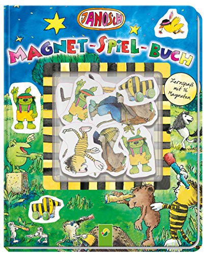 Janosch Magnet-Spiel-Buch: Lernspaß mit 16 Magneten