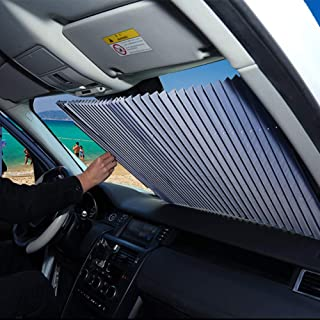 FBARTL Parabrisas del Coche Parasol, Estilo de acordeón Retractable automático Parabrisas Delantero Parasol Protector Sola...