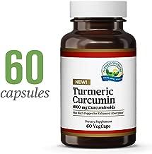 Nature's Sunshine Turmeric Curcumin, 60 VegCaps | Turmeric Curcumin Supplements with 1000 mg Curcuminoids and Black Pepper Extract for Enhanced Bioavailability