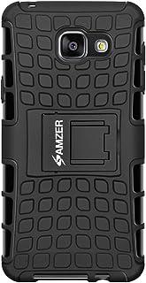AMZER Slim Protective Shockproof Heavy Duty Hybrid Warrior Dual Layer Case for Samsung Galaxy A5 2016 SM-A510F - Black