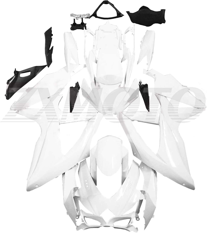 ZXMOTO Unpainted Ranking TOP13 Fairing Mail order cheap Kit for Suzuki GSXR 750 600 K8 2008-20