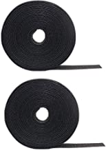 2 Pack Cable Fastening Tape Viaky 0.78'' inch Single Wrap Hook & Loop Cable Ties Reusable Cord Length About 16.4 feet (5.47 Yards)/Roll - Black