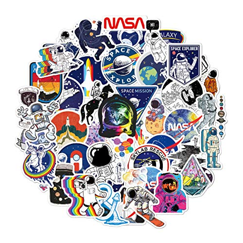 50pcs Outer Space Stickers for Water Bottles Laptop Scrapbooking Hydroflasks Cars Phone Case, Space Vinyl Stickers Aesthetic Waterproof for Kids Adults Teens Boys