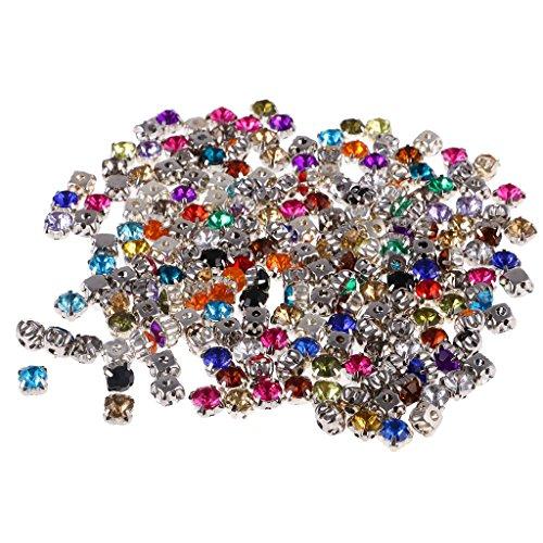 MagiDeal 200pz Cristalli Diamantce Mestiere Di Cucito 6mm Cucito Fai Da Te