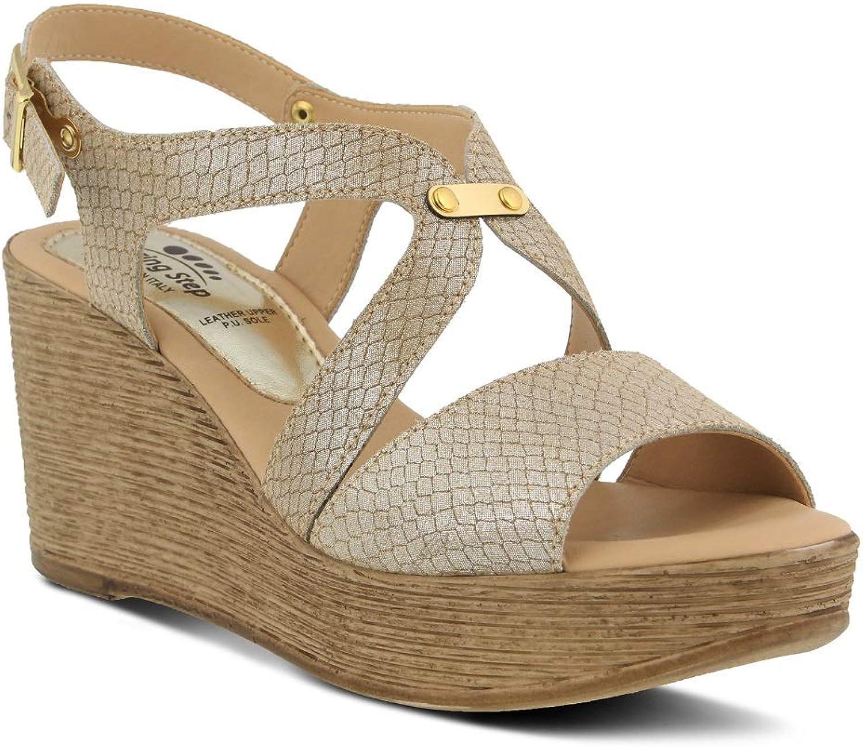 Spring Step Women's Nevena Sandals   color Beige   Leather Sandals
