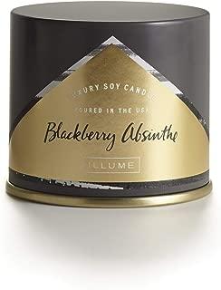 Illume BlackBerry Absinthe Large Vanity Tin, 11.8 oz Candle, Dark Purple