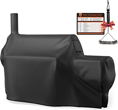 SHINESTAR Grill Cover for Oklahoma Joe's Highland Offset Smoker, Heavy Duty Waterproof BBQ Cover, Fade Resistant & Rip Resistant, All-Weather Protection