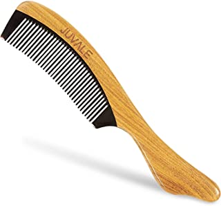 Fine Tooth Sandalwood Comb - Handmade Wooden Anti Static Hair Comb for Men and Women, Mustache Comb, Beard Comb, Brown - 7.9 x 0.3 x 1.5 Inches