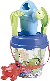 Simba Ecoiffier Beach Transparent Sea Bucket with Accessories, Multi-Colour, 17 cm
