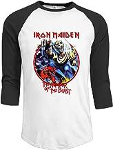 Mens Iron Maiden Vintage Killers 30/1 Heather Jerseys Baseball Raglan T Shirts