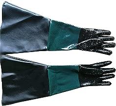 260 Sandblast Cabinet Guantes de goma para arenado de 23,6 pulgadas de alto rendimiento 110 1 2 90 para modelo 60