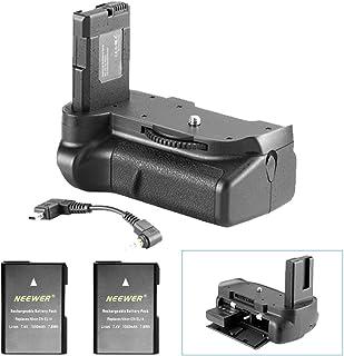 Neewer Pro (Pro Versión de Neewer Producto) Empuñadura de Batería Funciona con EN-EL14 Baterías + 2 Baterías de Repuesto EN-EL14 Recargable 74 V 1050mAh para Nikon D5100 5200 D5300 Cámara DSLR