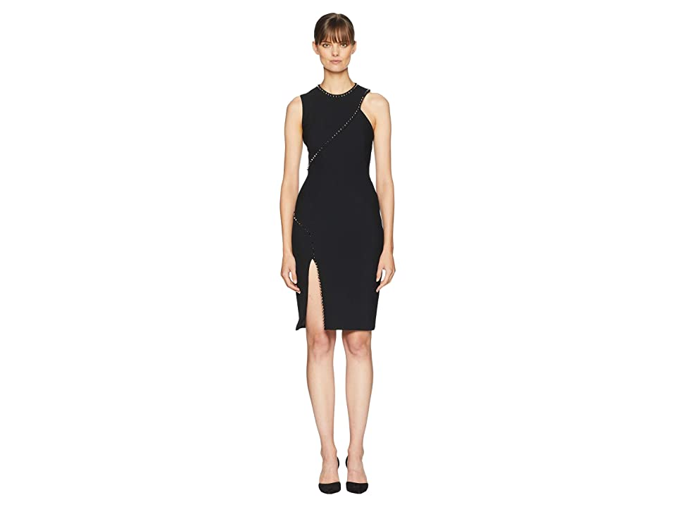 Versace Collection Stud and Slit Dress (Black) Women