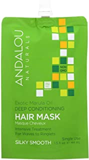 Andalou Naturals Exotic Marula Oil Silky Smooth Deep Conditioning Hair Mask, 1.5 Fluid Ounce - 6 per case.