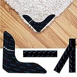 N/D Keilafu Alfombra Antideslizante Pegatinas, Carpet Grips, 12 Piezas Adhesivas Adhesivas para alfombras, Tiras y Adhesivos en ángulo Recto para Mantener su Alfombra en Lugares