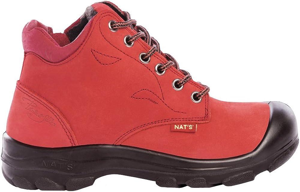 Women's Steel Toe Work Boots   Red   6
