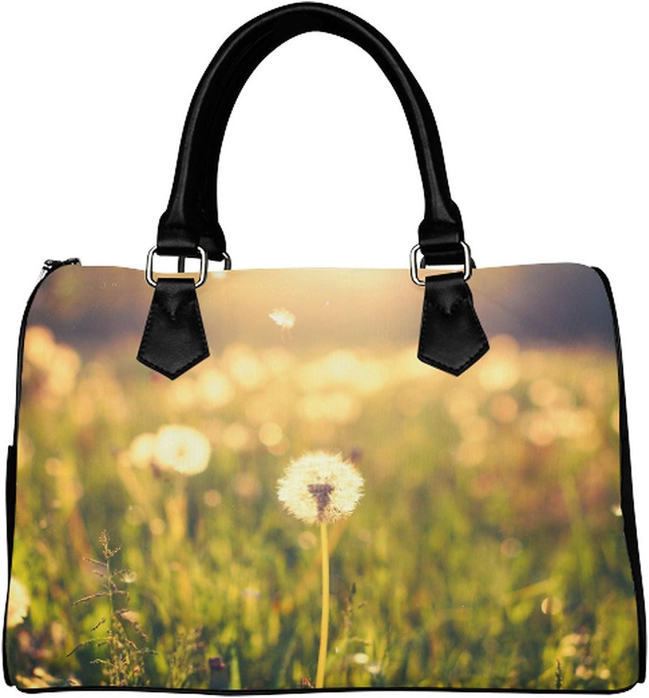 Yourfantasia Dandelion on the Meadow at Sunlight Boston Bag Handbag