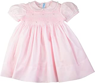 Feltman Brothers Dress Girls Pink Smocked Dress with Lace Trim Infant Easter