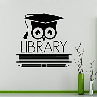 Wall Sticker Quote Wall Decal Funny Wallpaper Removable Vinyl Books Library Owl Education School Classroom Housewares Design Custom Decals Door Stickers