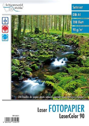 """Schwarzwald Mühle Laserpapier:\""""LaserColor 90\"""" 90 g/m² A4 200 Blatt (Fotopapier Laserdrucker)"""