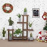 YAHEETECH Tiered Wood Plant Flower Stand Shelf Planter Pots...