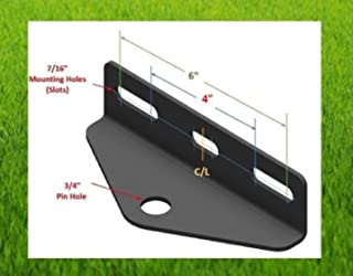 "USA Premium Store Universal Zero Turn (ZTR) Mower Trailer/Tow Hitch 4""/6"" mt - 3/4 pin hole (BH)"